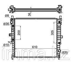 Радиатор мерседес ML-CLASS W163 2.3/3.2/3.5/4.3/5.0 98-05