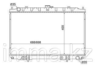 Радиатор Ниссан CEFIRO/MAXIMA/INFINITI I30/I35 2,0-3,0 99-03