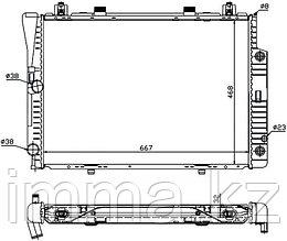 Радиатор мерседес S-CLASS W140 2.8/3.0/3.2 92-98