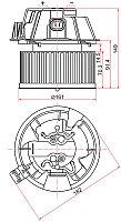 Мотор отопителя салона RENAULT LOGAN 05-/DUSTER 10-/SANDERO 08-/LADA LARGUS 12-/Ниссан NOTE 11- A/C