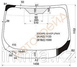 Стекло лобовое в клей FORD ESCAPE/KUGA 4D UTILITY 2012-
