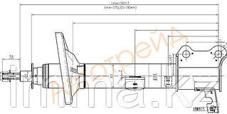 Стойка задняя Тойота CARINA/CALDINA/CORONA 92-02 4WD RH