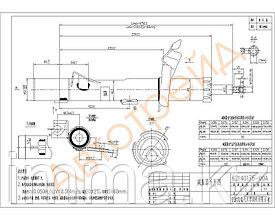 Стойка передняя FORD FOCUS II/C-MAX 04- LH