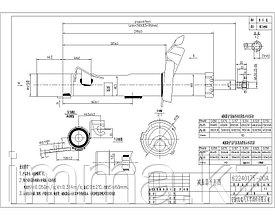 Стойка передняя FORD FOCUS II/C-MAX 04- RH