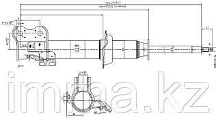 Стойка передняя Ниссан MARCH/MICRA/CUBE 92-02 RH