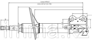 Стойка передняя Тойота COROLLA II/CORSA/CYNOS/STARLET/RAUM 94-03 LH