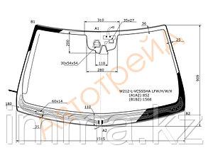 Стекло лобовое с обогревом щеток мерседес BENZ E-CLASS W212 10-13  (CAM+NIGHT VISION )