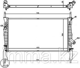 Радиатор FORD TRANSIT 2.2TD/2.3/2.4TD 2006-