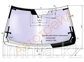 Стекло лобовое атермальное с обогревом в клей RANGE ROVER L405 5D SUV 13- (Solar-X  защита от ультра