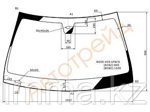 Стекло лобовое в клей мерседес BENZ C-CLASS (W205) 2014-