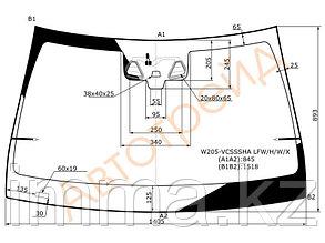 Стекло лобовое с обогревом щеток в клей мерседес BENZ C-CLASS (W205) 2014-
