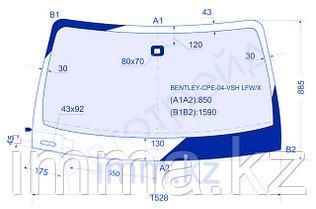 Стекло лобовое в клей  BENTLEY CONTINENTAL GT 04- 2D CPE BENTLEY-CPE-04-VSH LFW/W/X