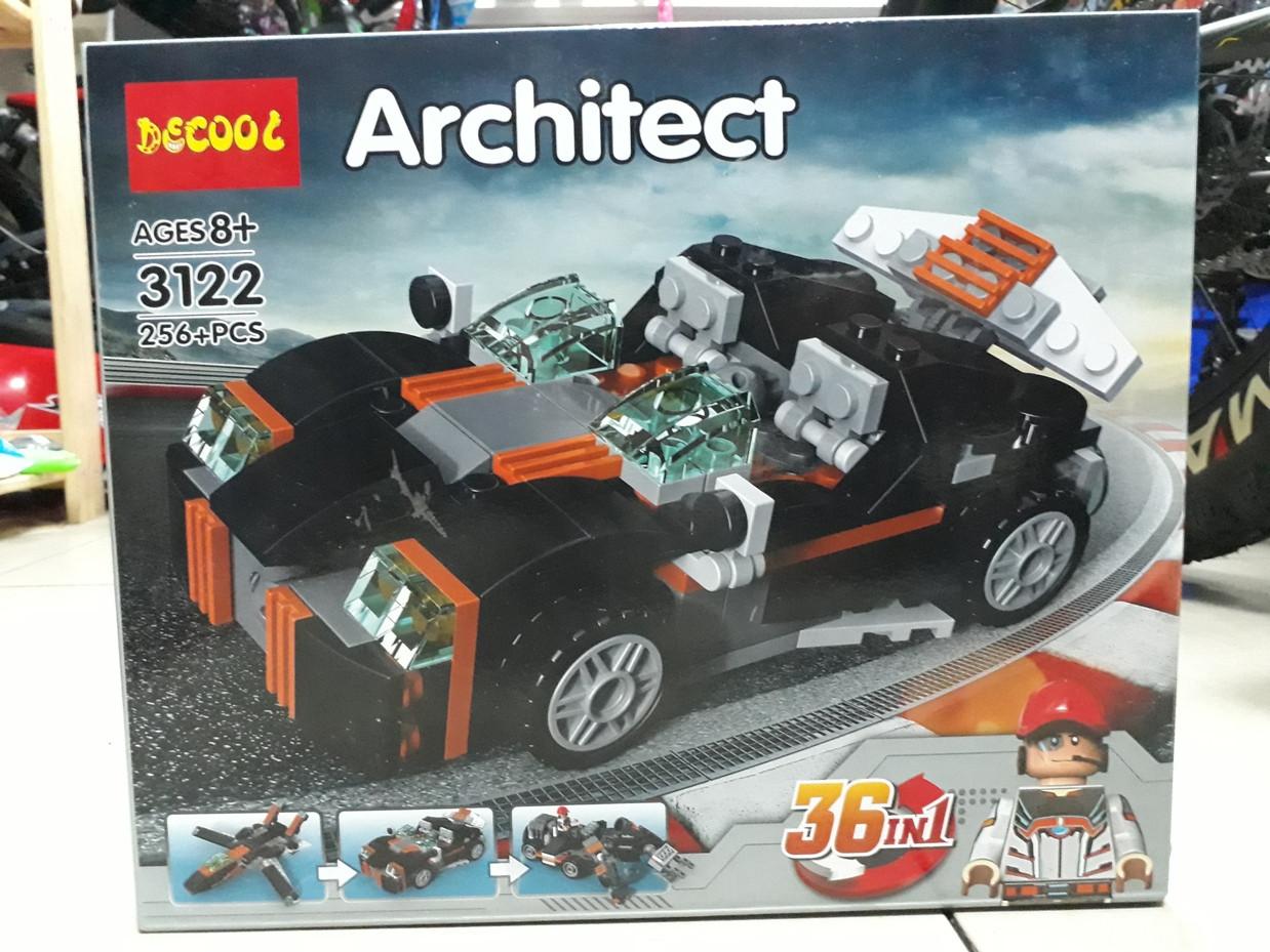 Конструктор Decool Architect 3122 256 pcs 36 в 1