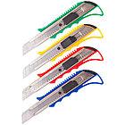 Нож канцелярский 18 мм OfficeSpace усиленный, с фиксатором, металлические направляющие, фото 2