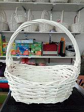 Корзина плетеная из лозы Белая 30 см