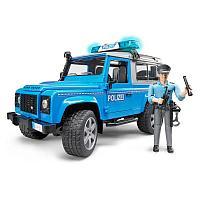 Внедорожник Bruder Land Rover Defender Station Wagon Полицейская с фигуркой, фото 1