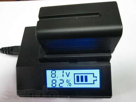 Зарядное устройство с дисплеем для Sony NP-F970, фото 2