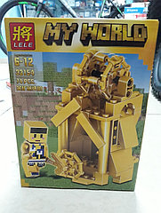 Конструктор Lele My world 33154 74 pcs. Minecraft. Майнкрафт