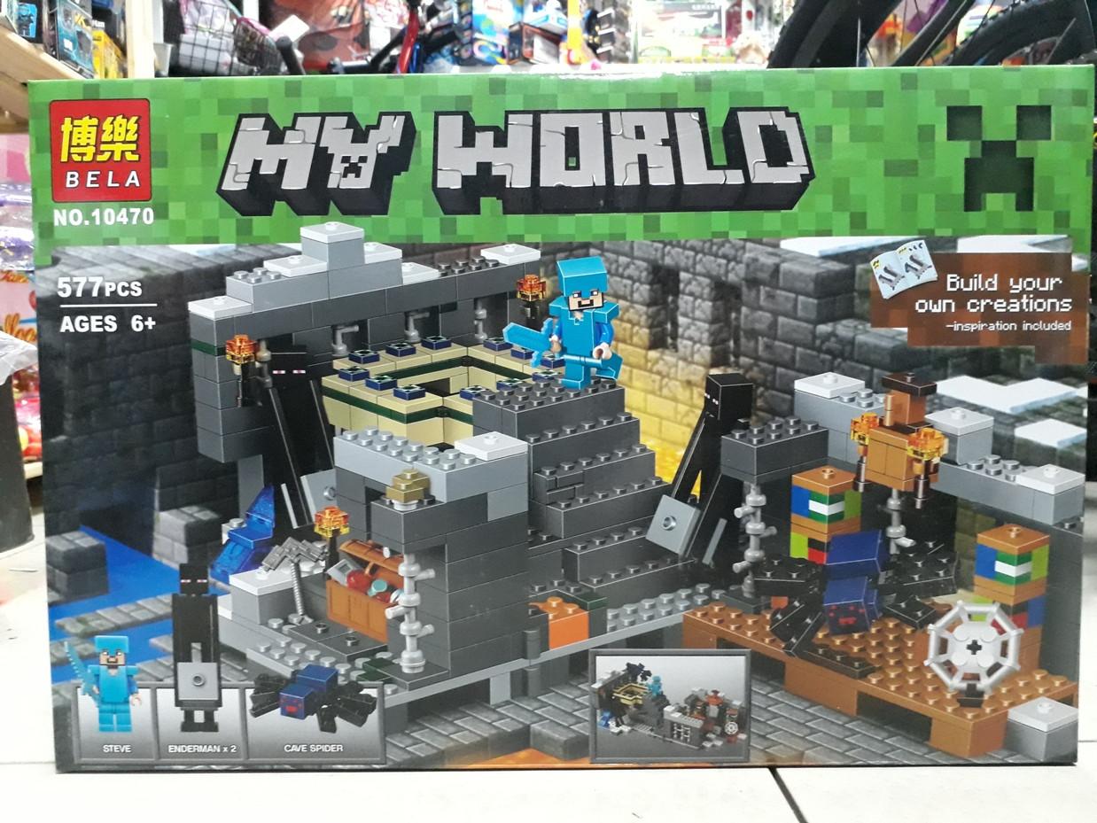 Конструктор Bela My world 10470 577 pcs. Minecraft. Майнкрафт