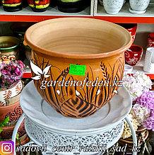 Керамический горшок для цветов (без поддона). Объем: 3л