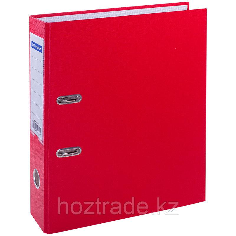 Папка регистратор Office Space 70 мм бумвинил с карманом на корешке, красная