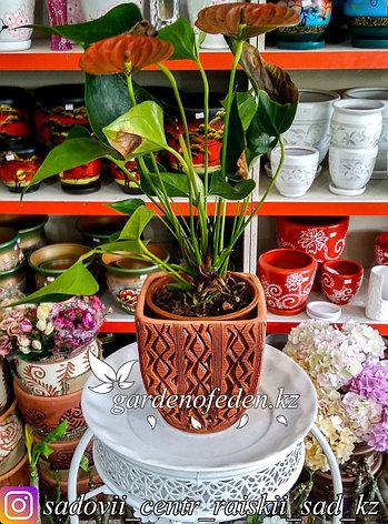 Керамический горшок для цветов (без поддона). Объем: 2л, фото 2