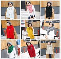 Вязаный шерстяной шарф, осен-зима., фото 1