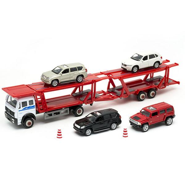 Игрушка автовоз с 4 вседорожными машинами