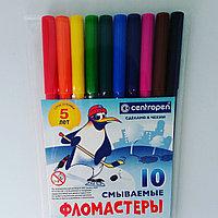 Фломастеры смываемые «Пингвины», 10 цветов
