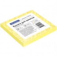 Бумага для записи с клейким краем 75*75 100л,  OfficeSpace