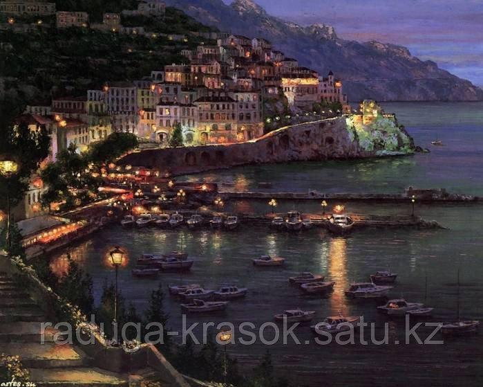"""Картины стразами """"Ночное средиземноморье"""" 40х50 см"""