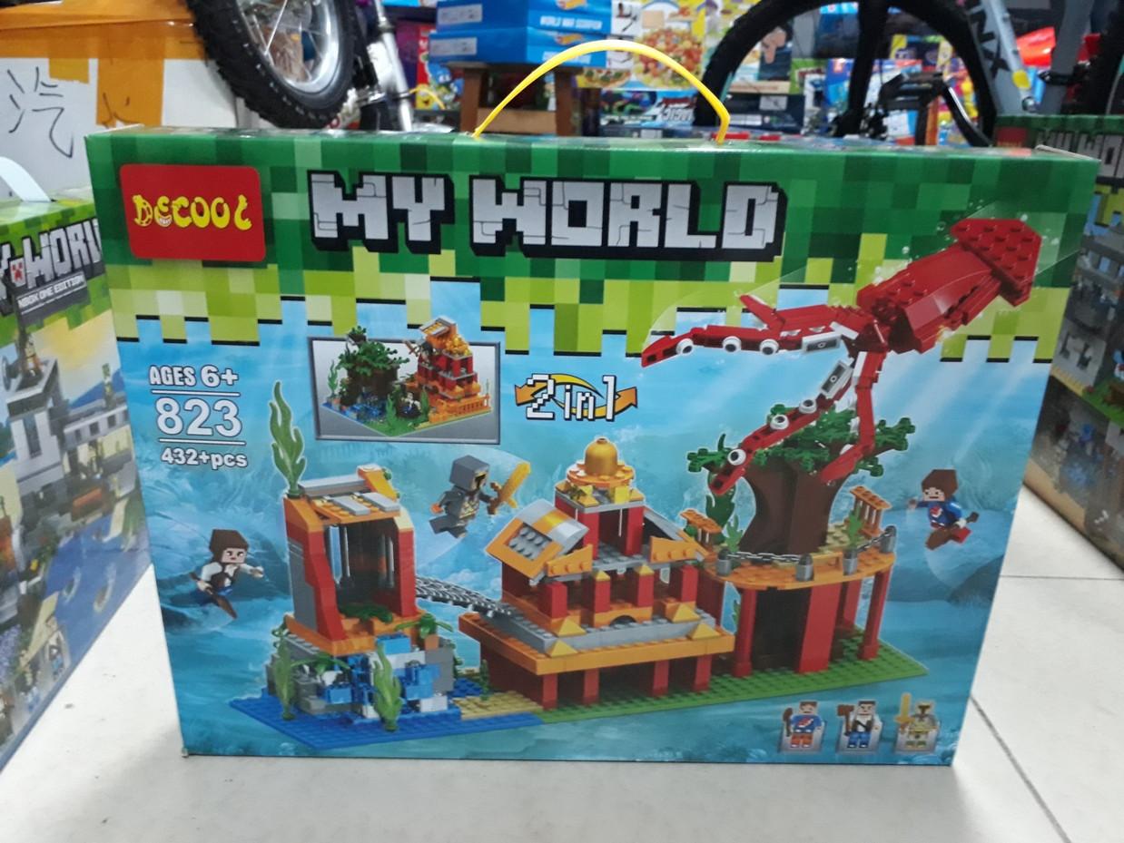 Конструктор Decool My world 823 432 pcs 2 в 1. Minecraft. Майнкрафт