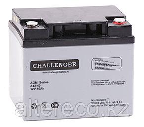 Аккумулятор Challenger A12-40 (12В, 40Ач), фото 2