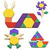 Деревянная геометрическая мозаика - 125 деталей, фото 5