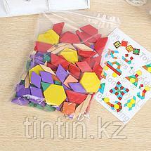 Деревянная геометрическая мозаика - 125 деталей, фото 3