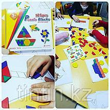 Деревянная геометрическая мозаика - 125 деталей, фото 2