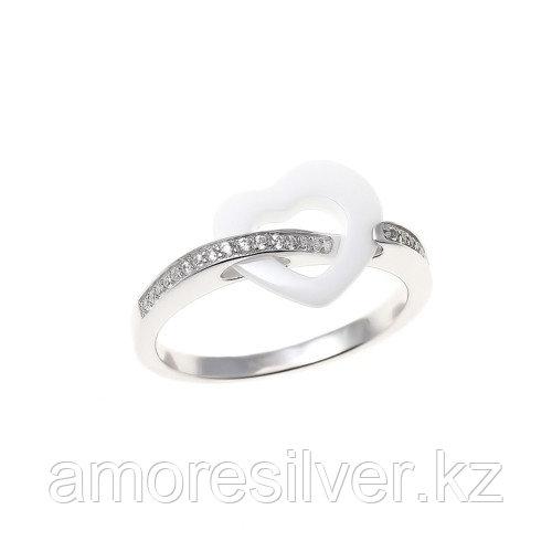 Кольцо Teosa серебро с родием, фианит, символы RCS-429-W