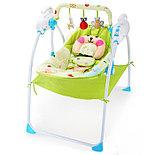 Электронные качели, шезлонг Baby Cradle, голубой, фото 2