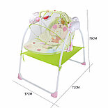 Электронные качели, шезлонг Baby Cradle, голубой, фото 4
