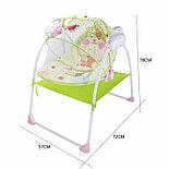 Электронные качели, шезлонг Baby Cradle, розовый, фото 4