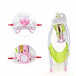 Электронные качели, шезлонг Baby Cradle, розовый, фото 5