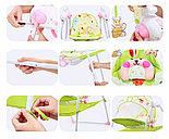 Электронные качели, шезлонг Baby Cradle, розовый, фото 9