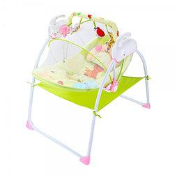 Электронные качели, шезлонг Baby Cradle, розовый