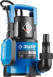 Насос дренажный погружной для чистой воды ЗУБР НПЧ-Т3-400, ПРОФЕССИОНАЛ, Т3 (d пропускаемых частиц до 5мм)