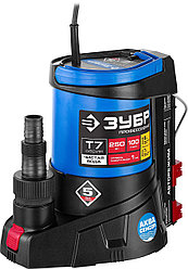 Насос дренажный погружной для чистой воды ЗУБР НПЧ-Т7-250, ПРОФЕССИОНАЛ, Т7 АкваСенсор, 250 Вт.