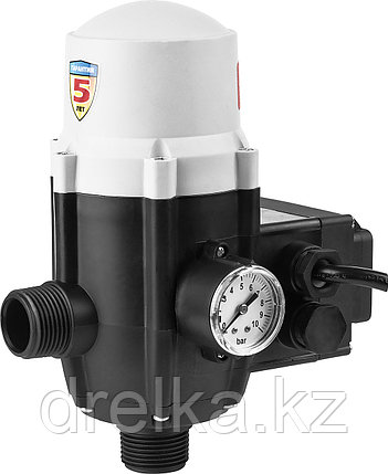 Блок автоматики ЗУБР ЗБА, давление срабатывания 1,5 Атм ,макс мощность подключаемых насосов 1,1 кВт , фото 2