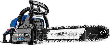 Бензопила ЗУБР ПБЦ-560 45ДП, ПРОФЕССИОНАЛ, хромированный цилиндр, праймер, 56 см3 (2,4 кВт), шина 45 см., фото 2