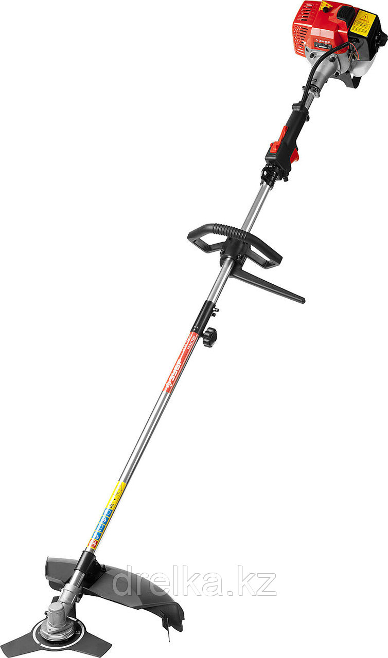 Бензокоса ЗУБР КРБ-250, МАСТЕР, 25 см3 (0,82 л.с. / 0,6 кВт), катушка / нож, ширина кошения 44 / 25,5 см.