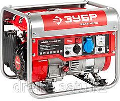 Бензиновый электрогенератор ЗУБР ЗЭСБ-1200, двигатель 4-х тактный, ручной пуск, 1200/1000Вт, 220В