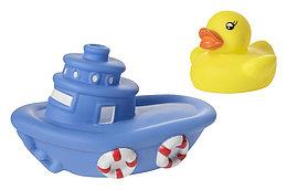 """Курносики, Набор игрушек для ванны """"Лодка с утёнком"""""""